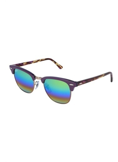 Ray-Ban Clubmaster Rb 3016 Col 1221/C3 49-21 Bayan Güneş Gözlüğü Renkli